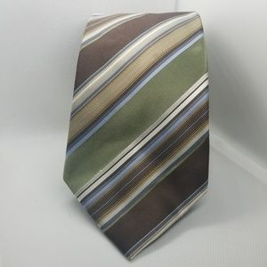 Angled Striped Silk Tie